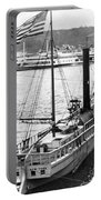 Steamer In The Hudson River - New York - 1909 Portable Battery Charger