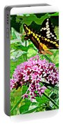 Stencilled Butterfly Portable Battery Charger