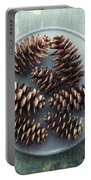 Stil Life With  Seven Pine Cones Portable Battery Charger