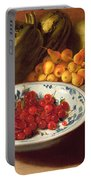 Still Life Of Cherries - Marrows And Pears Portable Battery Charger