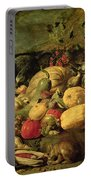 Still Life Of Fruits And Vegetables Portable Battery Charger