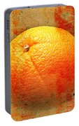 Still Life Orange Abstract Portable Battery Charger