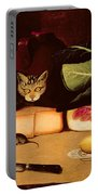 Still Life With Cat And Mouse Portable Battery Charger