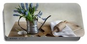 Still Life With Grape Hyacinths Portable Battery Charger