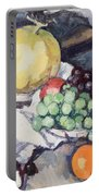 Still Life With Melons And Grapes Portable Battery Charger by Samuel John Peploe