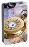 Still Life With Pocket Watch, Key Portable Battery Charger