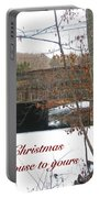 Stone Bridge Christmas Card - Our House To Yours Portable Battery Charger