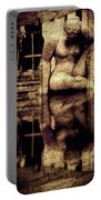 stone in reflexion - Statue reflected in a sea of doubt in vintage process Portable Battery Charger