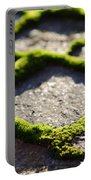 Stone Road With Green Moss Portable Battery Charger