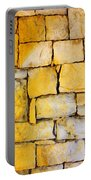 Stone Wall Portable Battery Charger by Carlos Caetano