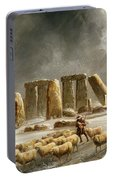 Stonehenge In Winter  Portable Battery Charger