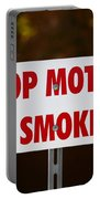 Stop Motor No Smiking Portable Battery Charger