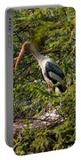Storks Around A Nest Portable Battery Charger