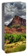 Storm Brewing In Desert Portable Battery Charger