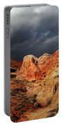 Stormy Skies Over Valley Of Fire Portable Battery Charger