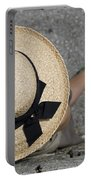 Straw Hat And Green Shoes Portable Battery Charger