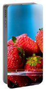 Strawberries In A Plastic Sale Box  Portable Battery Charger