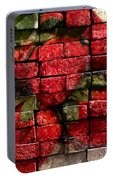 Strawberries On Bricks Portable Battery Charger