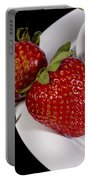 Strawberry Arrangement With A White Bowl No.0036 Portable Battery Charger