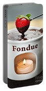 Strawberry Dipped In Chocolate Fondue Portable Battery Charger