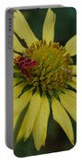 Strawberry Moth On A Yellow Flower Portable Battery Charger