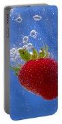 Strawberry Soda Dunk 3 Portable Battery Charger by John Brueske