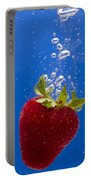 Strawberry Soda Dunk 5 Portable Battery Charger by John Brueske