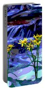 Stream And Flowers Portable Battery Charger