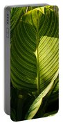 Striped Leaf Pattern  Portable Battery Charger