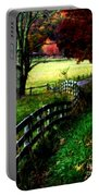 Strolling Down The Old Country Road Portable Battery Charger