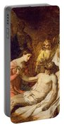 Study Of The Lamentation On The Dead Christ Portable Battery Charger