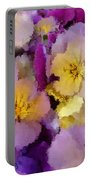 Sugared Pansies Portable Battery Charger