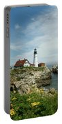 Summer At Portland Head Light Portable Battery Charger