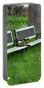 Summer Bench And Dandelions Portable Battery Charger