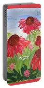 Summer Coneflowers Portable Battery Charger