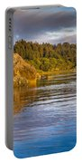 Summer Evening On Little River Portable Battery Charger