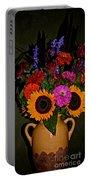 Summer Flower Bouquet Portable Battery Charger