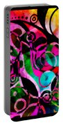 Summer Introspection Of An Extrovert Triptych Horizontal Portable Battery Charger