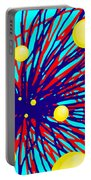 Summer Splat With Yellow Balls Portable Battery Charger