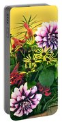 Summer To Autumn Bouquet Portable Battery Charger
