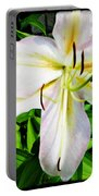 Summer White Madonna Lily Portable Battery Charger
