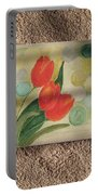 Sun And Tulips Portable Battery Charger