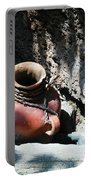 Sun Dappled Pottery Portable Battery Charger by Jeff Swan