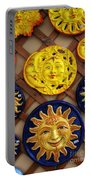 Sun Faces On The Island Of Capri Italy Portable Battery Charger