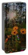 Sunburst On Sunflowers Portable Battery Charger