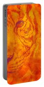 Sunburst Tiger On Fire Portable Battery Charger
