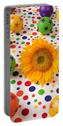 Sunflower And Colorful Balls Portable Battery Charger