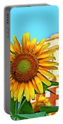 Sunflower In The City Portable Battery Charger