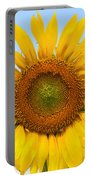 Sunflower On Blue Portable Battery Charger