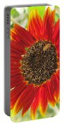 Sunflower With Bee Portable Battery Charger